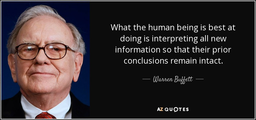 Warren Buffett Quote What The Human Being Is Best At Doing Is