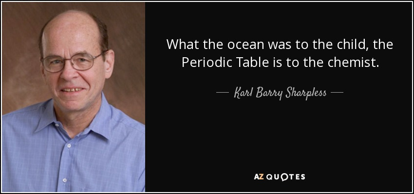 Karl barry sharpless quote what the ocean was to the child the what the ocean was to the child the periodic table is to the chemist urtaz Images