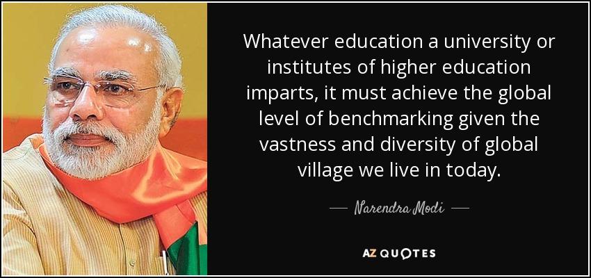 narendra modi quote whatever education a university or institutes