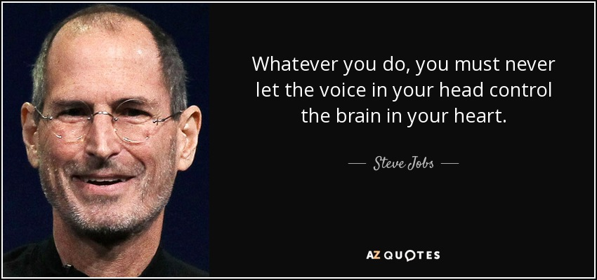 Steve Jobs Quote Whatever You Do You Must Never Let The Voice In