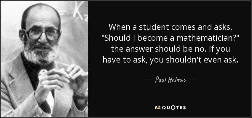 When a student comes and asks,