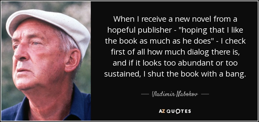 When I receive a new novel from a hopeful publisher -