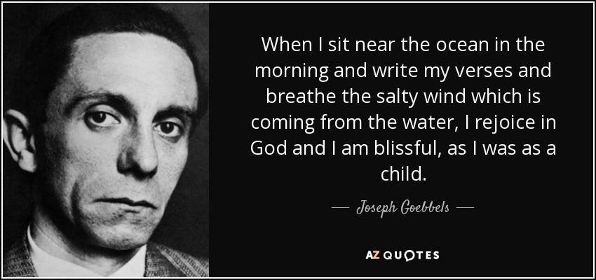 joeseph goebbels essay