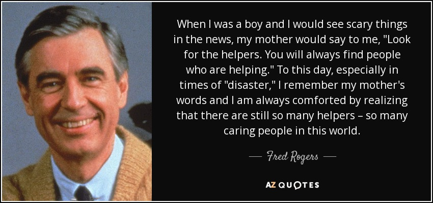 Image result for mr rogers hero quote