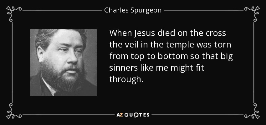 charles spurgeon quote when jesus died on the cross the