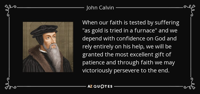 When our faith is tested by suffering