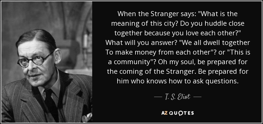When the Stranger says: