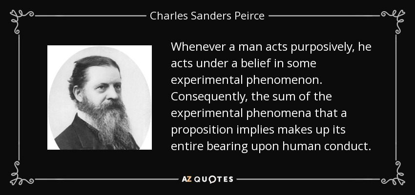 an analysis of the work the fixation of belief by charles sanders pierce Pragmatism was a philosophical tradition that originated in the united states around 1870 the most important of the 'classical pragmatists' were charles sanders peirce (1839–1914), william james (1842–1910) and john dewey (1859–1952.