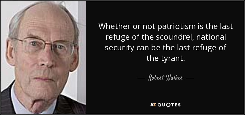 patriotism is the last refuge of a scoundrel essay Is patriotism the 'last refuge of a scoundrel' by mark r crovelli june 9, 2011 recently by mark r crovelli: where are the christian churches when we need.
