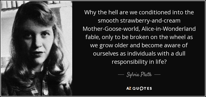 death represenataion in sylvia plaths selected The received wisdom is that sylvia plath killed herself after there is a story about the death of sylvia plath that ted was seeing sylvia regularly.