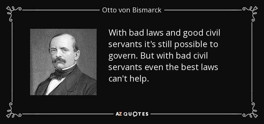 Quote for civil servants
