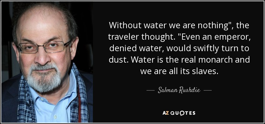 Without water we are nothing