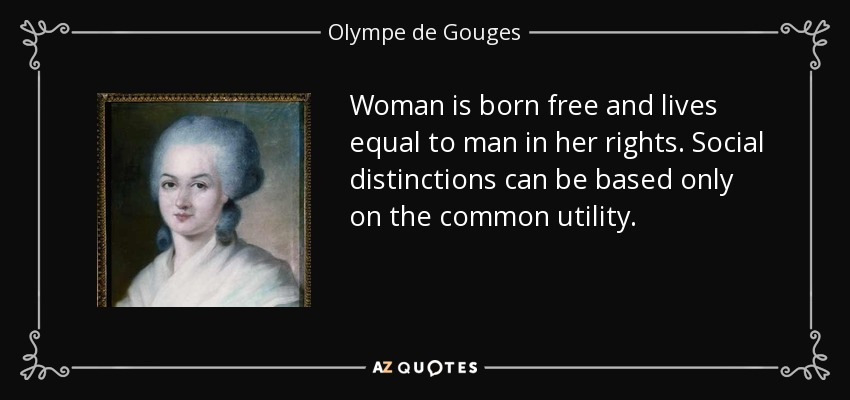 TOP 7 QUOTES BY OLYMPE DE GOUGES