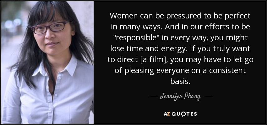 Women can be pressured to be perfect in many ways. And in our efforts to be