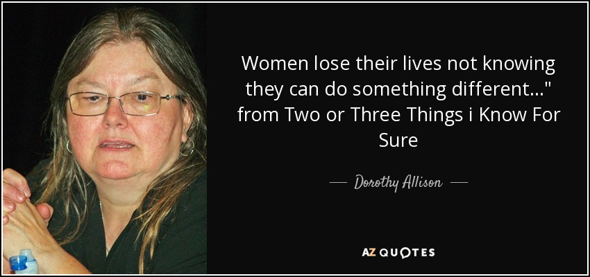 Women lose their lives not knowing they can do something different...