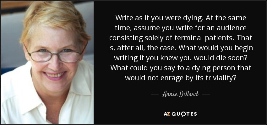What would you write?