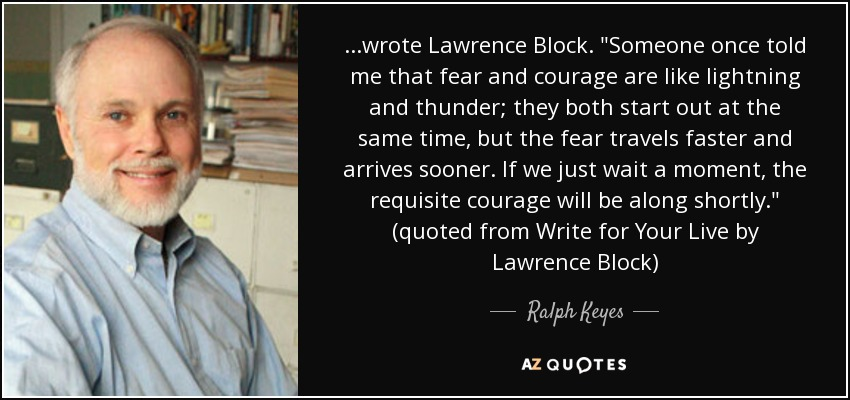 ...wrote Lawrence Block.