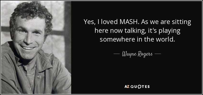 wayne rogers mash