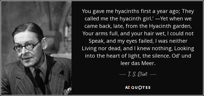 by T.S. Eliot