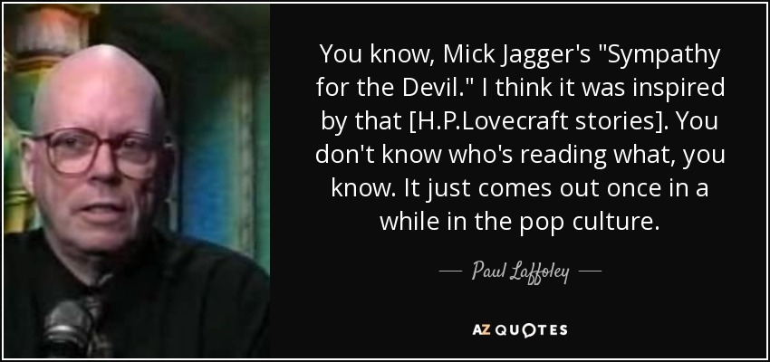 You know, Mick Jagger's
