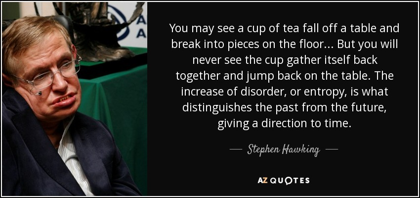 Stephen Hawking Quote You May See A Cup Of Tea Fall Off A