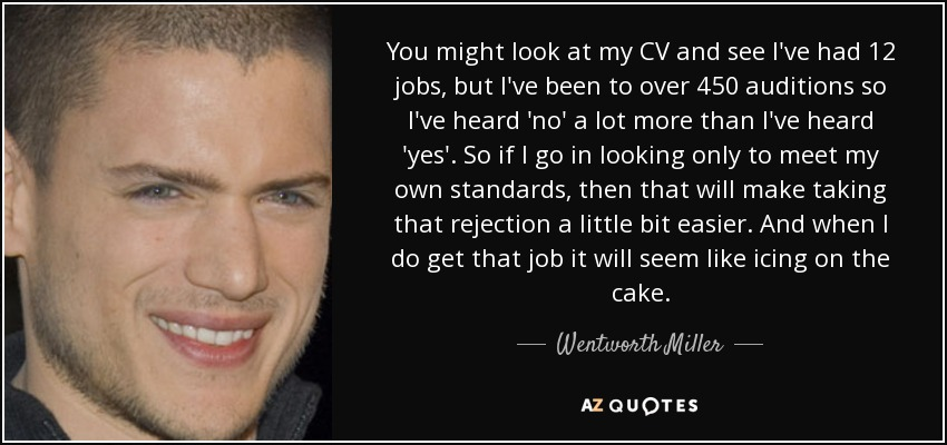 quote cv Wentworth Miller quote: You might look at my CV and see I've had