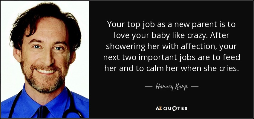 Harvey Karp Quote Your Top Job As A New Parent Is To Love