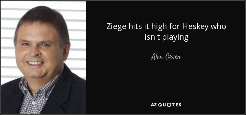 Ziege hits it high for Heskey who isn't playing - Alan Green