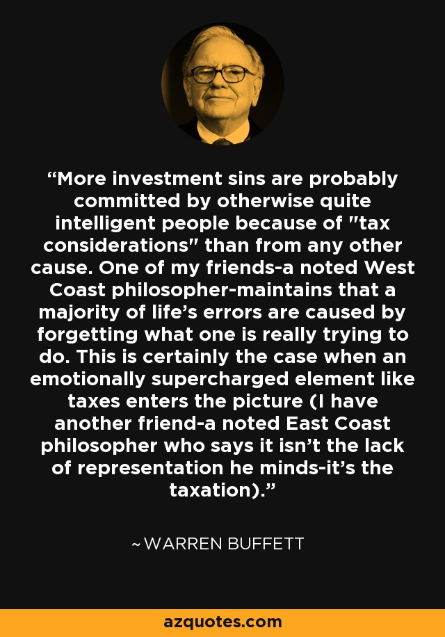 More investment sins are probably committed by otherwise quite intelligent people because of
