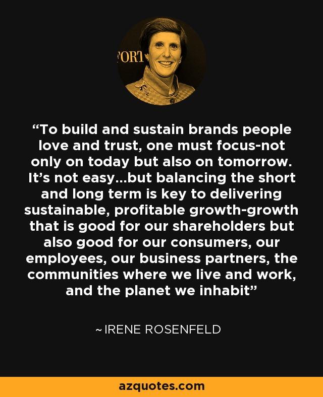 Creating Brands People Love Sustain Brands People Love