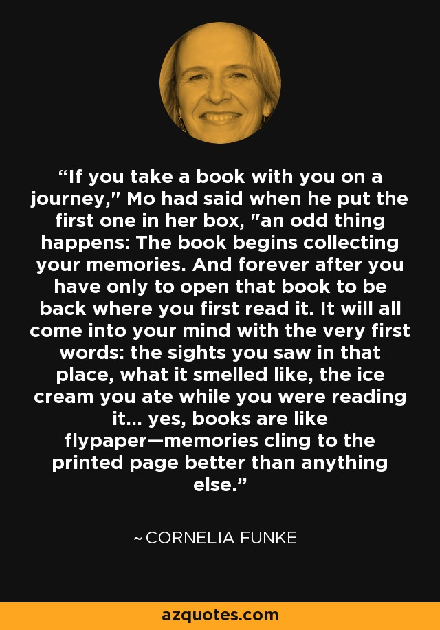 If you take a book with you on a journey,