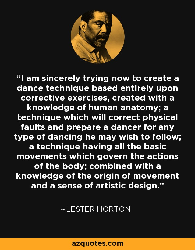 Lester Horton Quote I Am Sincerely Trying Now To Create A Dance