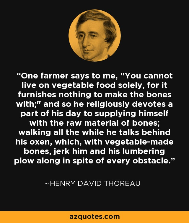 One farmer says to me,