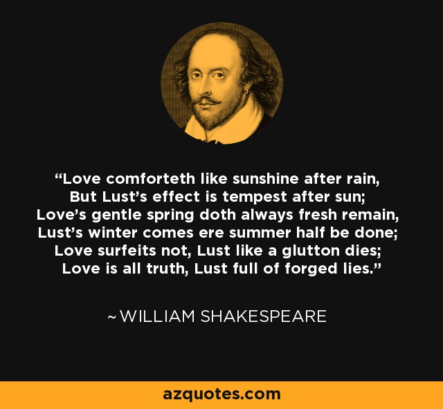 Shakespeare Quotes On Truth: William Shakespeare Quote: Love Comforteth Like Sunshine