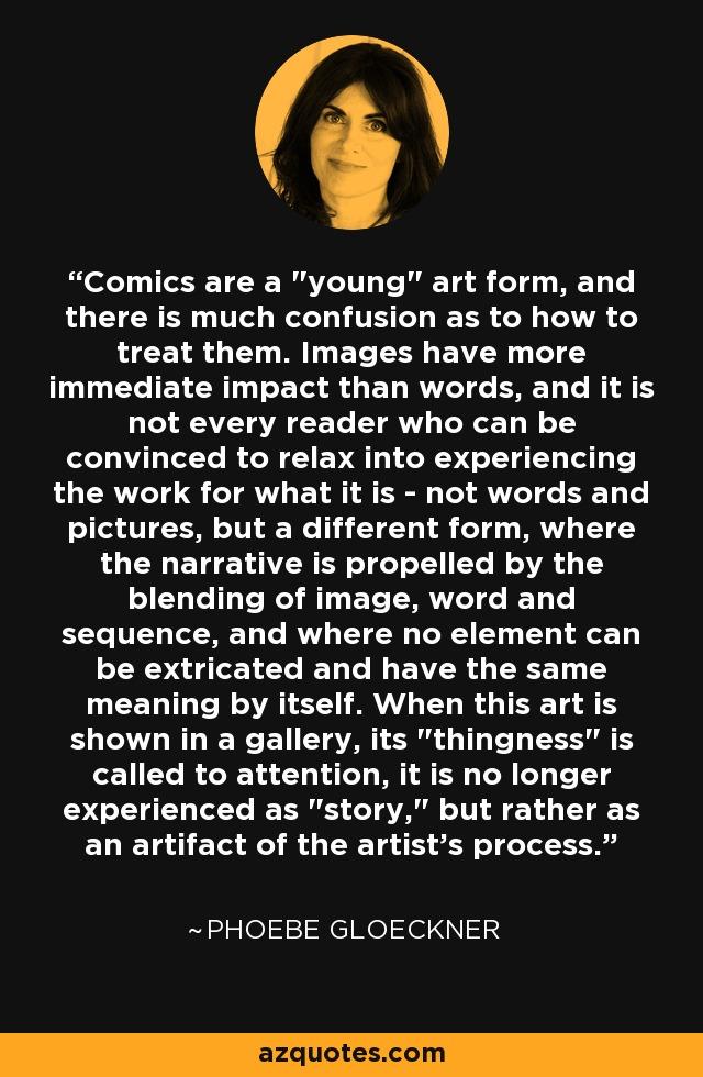 Comics are a