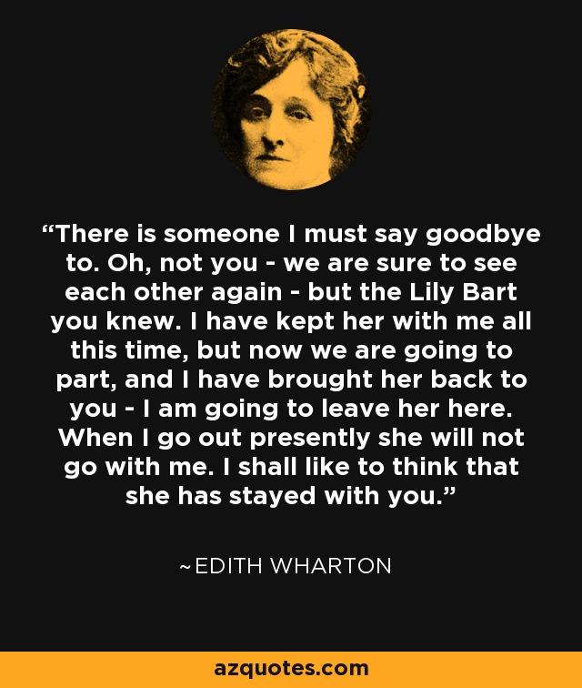 must say goodbye