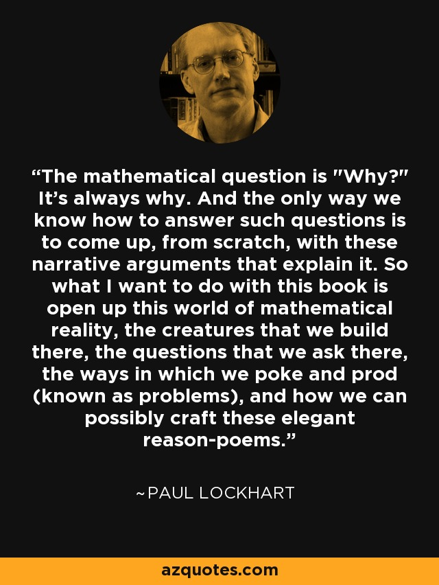 The mathematical question is