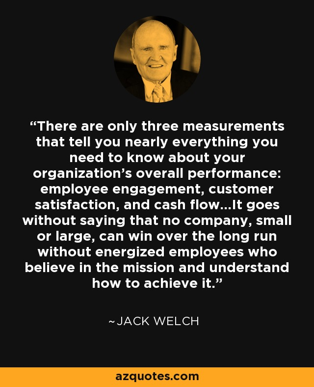 Jack Welch Quotes Jack Welch Quote There Are Only Three Measurements That Tell You .