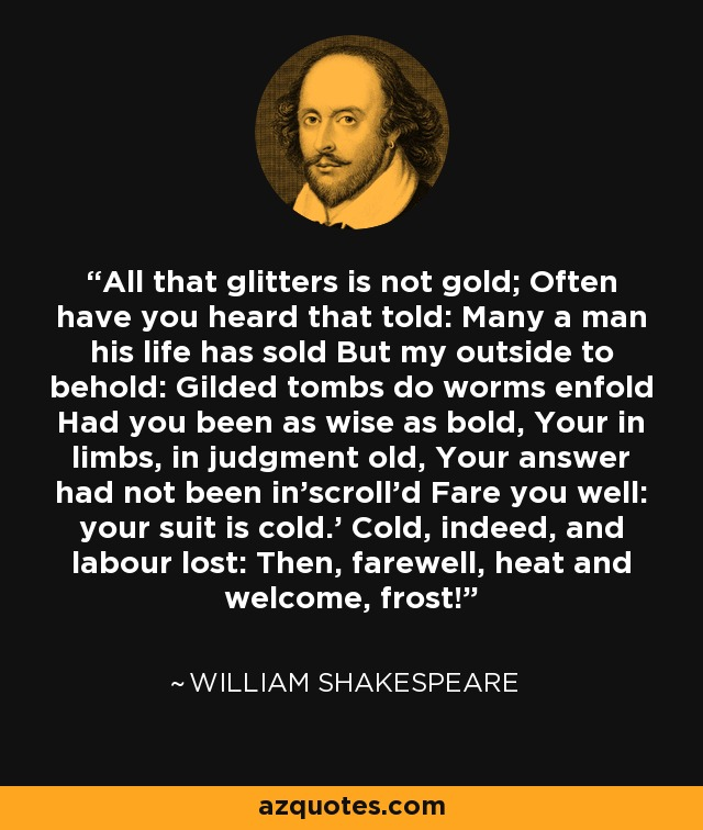 quotes on all that glitters is not gold