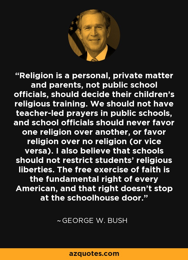why prayer should not be allowed in public schools