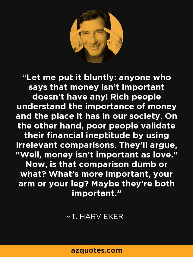 importance of money in society