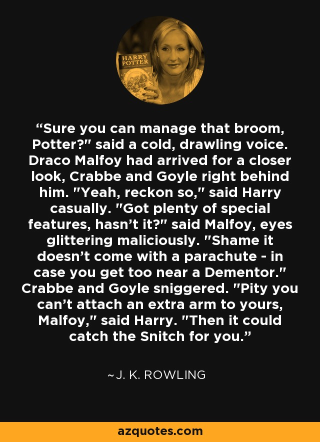 Sure you can manage that broom, Potter?