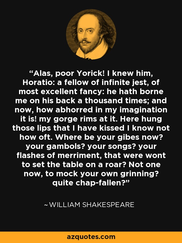 Alas poor yorick quote