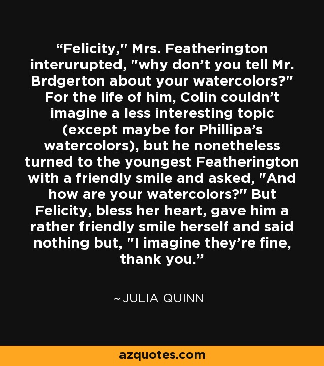 Felicity,
