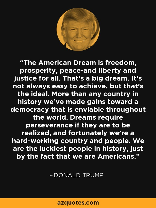 the american dream of freedom The american dream is the idea that all people can have happy and what is the american dream calling it the american dream, i would think of freedom.