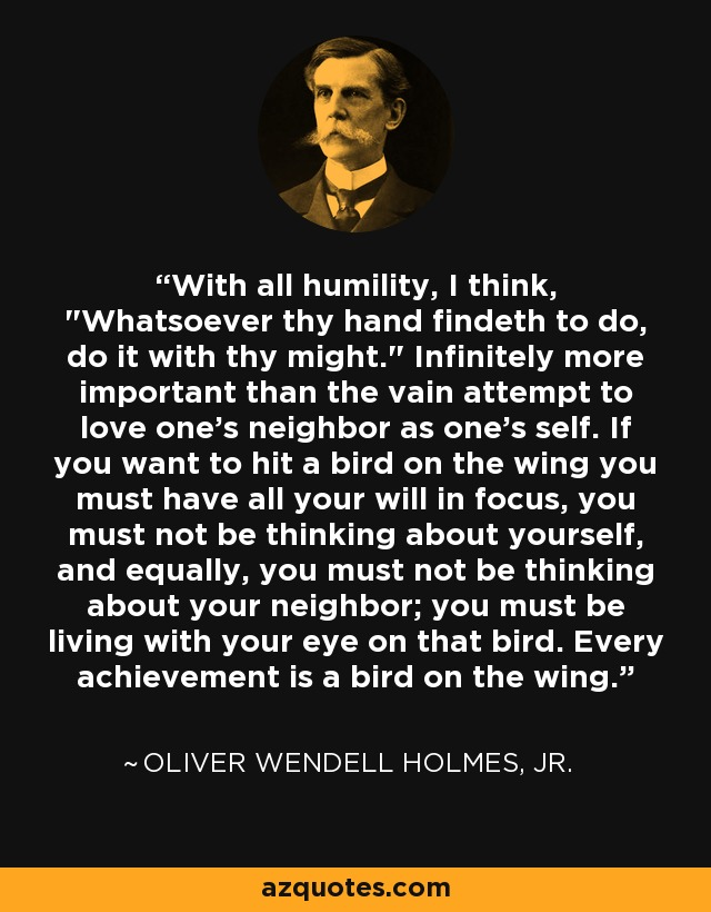 With all humility, I think,
