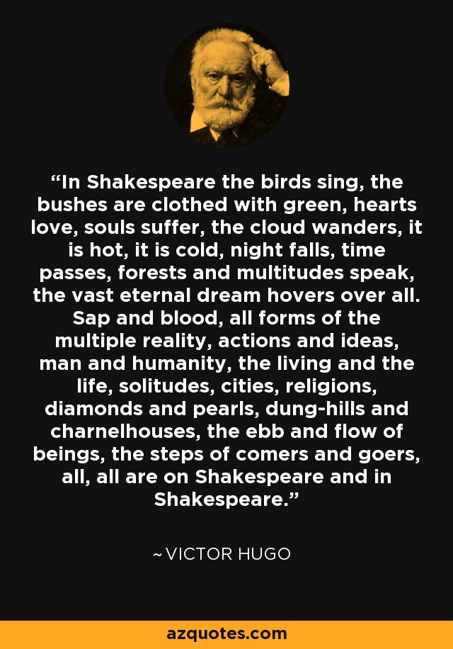 In Cold Blood Quotes And Page Numbers: Victor Hugo Quote: In Shakespeare The Birds Sing, The