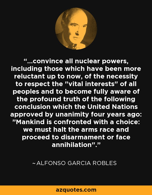 ...convince all nuclear powers, including those which have been more reluctant up to now, of the necessity to respect the
