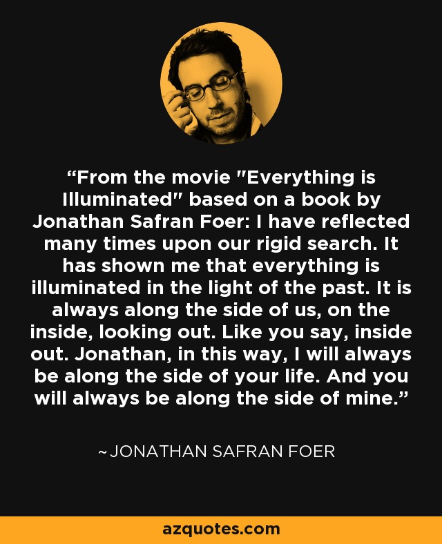 the things jonathan safran foer learned about food from his grandmother described in the essay again Something similar could be said of jonathan safran foer's sprawling and erratic here i am, his first novel for more than a decade the information (1995) was a long, chaotic book, a comedy that aspired to tragic depths — just like here i am, in fact.