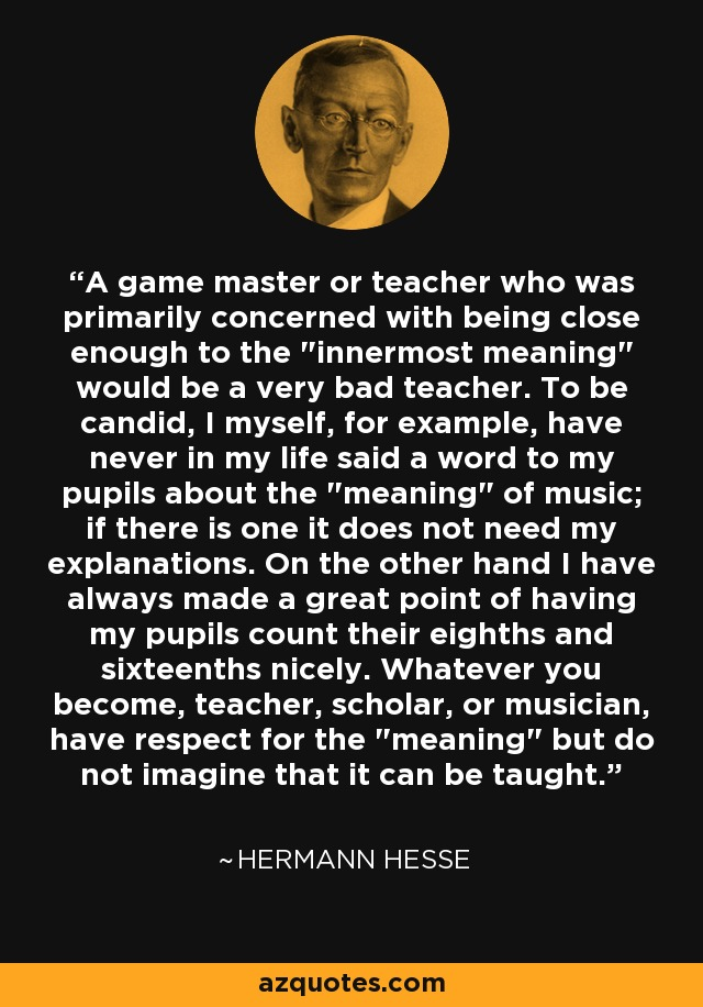 A game master or teacher who was primarily concerned with being close enough to the